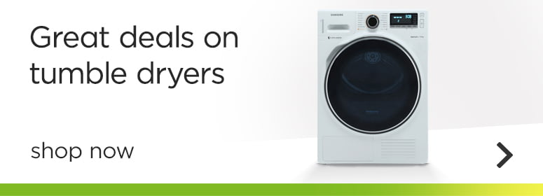 Great deals on tumble dryers