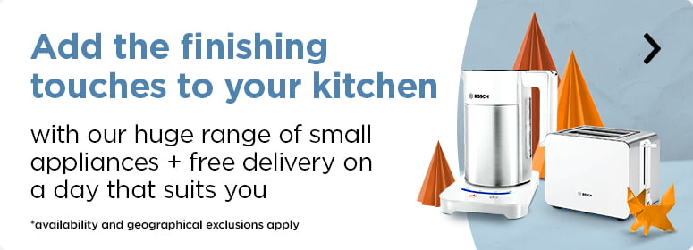Add the finishing touches to your kitchen with our huge range of small appliances + free delivery on a day that suits you