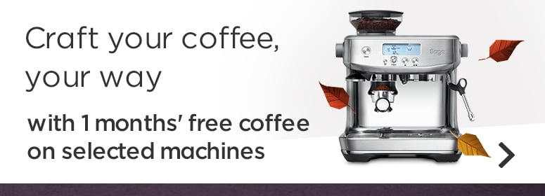 craft your coffee your way with free coffee on selected machines