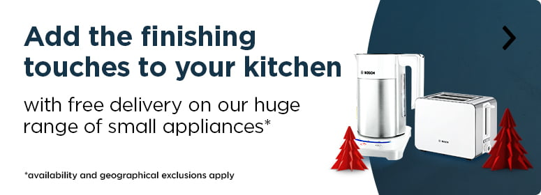 Add the finishing touches to your kitchen with free delivery on our huge range of small appliances* *availability and geographical exclusions apply