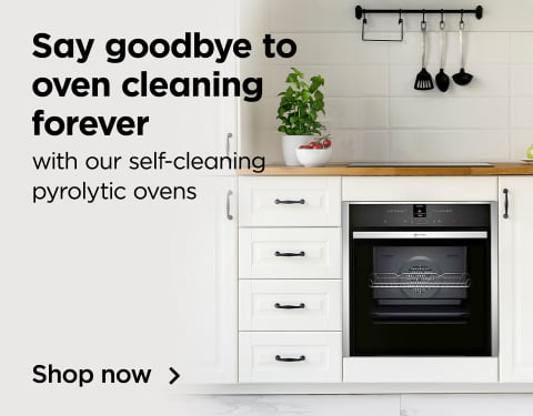say goodbye to oven cleanig forever with our self cleaning pyrolytic ovens
