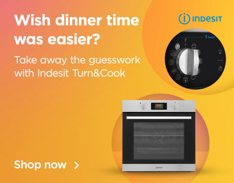 wish dinner time was easier? take away the guesswork with indesit turn&cook