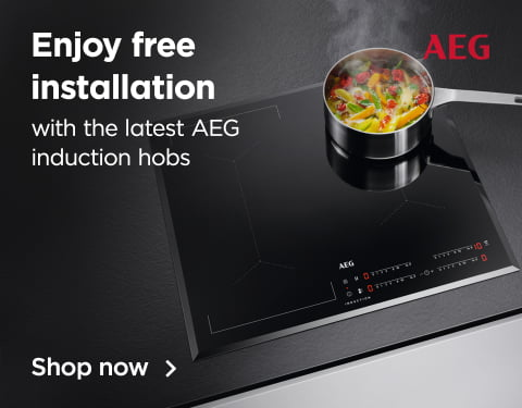 Enjoy free installation with the latest AEG induction hobs