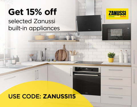 Get 15% off selected Zanussi Built-in appliances. Use Code ZANUSSI15
