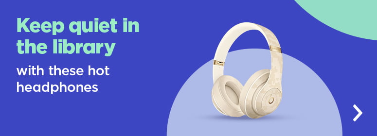 Keep it quiet in the library with these hot headphones