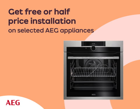 Get free or half price installation on selected AEG appliances